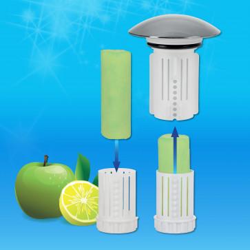 Abfluss-Fee Verschlussstopfen weiß  inkl. 1 Duftstein + 8er-Set Duftsteine