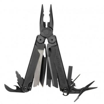 Leathermann-Tool Wave Black 100 mm inkl. 17 Werkzeugen und 2 Bits