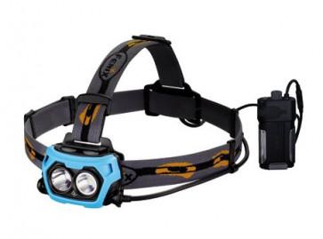 Fenix Kopflampe HP40F - speziell für Angler mit 2. blauer LED, blaue LED bis 50 Lumen,