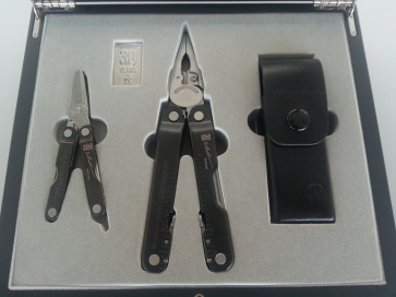 Leatherman Multitool-Set DLC Coated Super Tool 300 + Micra