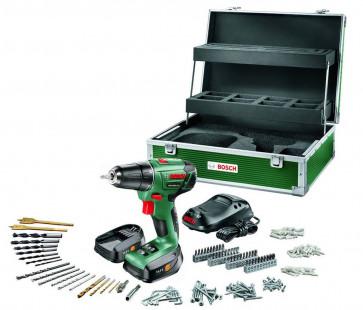Bosch Akkuschrauber PSR 1440 LI-2 Set mit 2 Akkus 1,5Ah, Ladegerät, Koffer