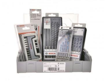 Bosch Stein-Box mit SDS-Plus Bohrersatz, Betonbohrersatz, Bitsatz