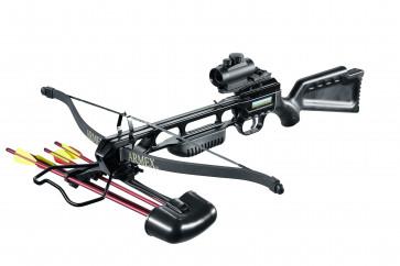 "Armex Armbrust ""Jaguar""schwarz  inkl. 4 Aluminiumpfeile 17 """