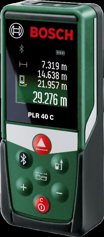 Bosch Laser-Entfernungsmesser PLR 40 C  0,05 - 40 m, Bluetooth, mit Tasche