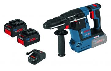 Bosch Akkubohrhammer GBH 18V-26 F Professional mit 2 x 7,0 Ah ProCORE18V Akkus, Ladegerät