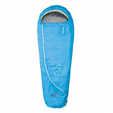 Grüezi bag Schlafsack CLOUD MUMIE blau wasserdicht, atmungsaktiv, Kopfkissenschubfach