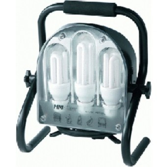 Profil Energiesparlampe 60 Watt mit 2 Steckdosen, IP 44,