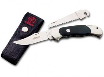 Böker Messer Optima-Set mit extra Säge und Cordura Gürteletui, 4034-Hechtklinge 9 cm,