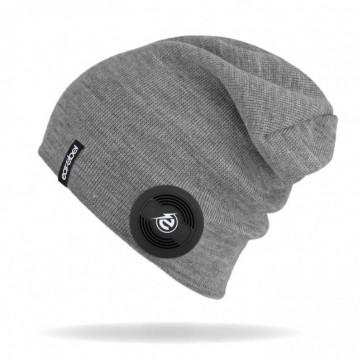 earebel Slim Beanie Slim grau mit integrierten  Kopfhörern - telefonieren und Musik hören mit