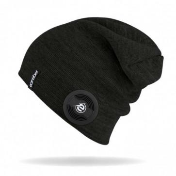 earebel Slim Beanie Slim schwarz mit integrierten  Kopfhörern - telefonieren und Musik hören mit