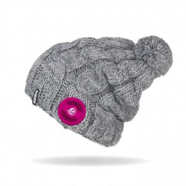 earebel Mütze Trenza grau mit integrierten Kopfhörern, Telefonieren und Musik hören mit