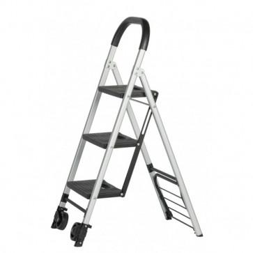 Mobile Allzweckleiter/Transportkarre klappbar 3 Stufen, Tragkraft 150 kg als Leiter,