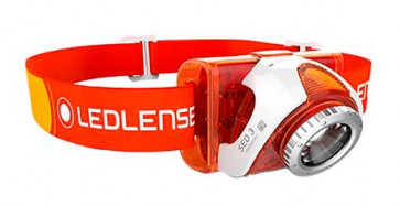Led Lenser LED Kopflampe SEO 3 (orange) 100 lm, 100 m, 10 h, 5,4 Wh