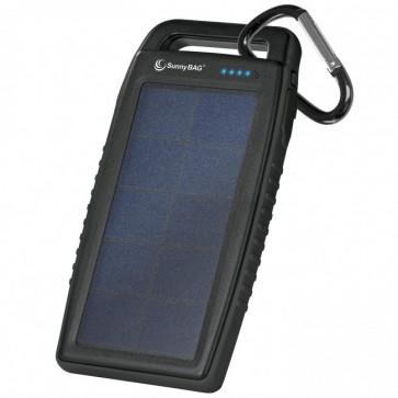 SunnyBag Solar-Ladestation Kraftwerk To Go schwarz 3in1: Ladegerät, Reserve-Akku, Taschenlampe
