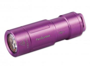 Fenix Schlüsselbund-Taschenlampe UC02 lila 130 Lumen, 48 m,  43,2 mm Länge, 8 g Gewicht
