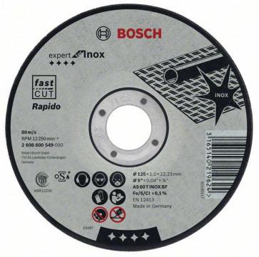 Bosch Trennscheibe für Metall 125 x 1,0 x 22,2 mm Inox
