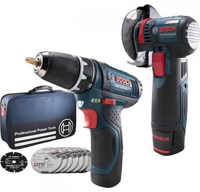 Bosch Akku Set Gws 10 8 76 V Ec Gsr 10 8 2 Li Gunstig Online Kaufen