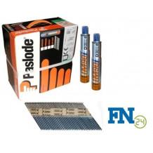 Paslode Impulse Packs 2500 Streifennägel 3,1 x 90 mm, blank (gerillt) + 2 x Gas