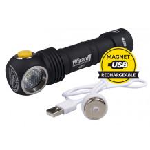 Armytek Kopflampe Wizard Pro USB  2300 lm, white, 130 m, inkl. 18650-Akku