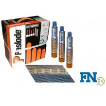 Paslode Impulse Packs 3750 Streifennägel 2,8 x 63 mm, blank (gerillt) + 3 x Gas