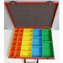 TECFOX Sortimentskoffer, Stahlblech, kompl. mit Einsätzen