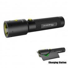 Led Lenser Taschenlampe i9R iron, wiederaufladbar 400 Lumen, 260 m, 35 h, Extreme LED