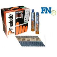 Paslode Impulse Packs 2500 Streifennägel 3,1 x 80 mm, blank (gerillt) + 2 x Gas