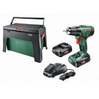 Bosch Akkuschrauber PSR 1800 LI-2 2 Akkus 1,5 Ah, Ladegerät, Workbox